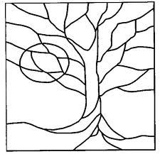 stained glass tree pattern - Google Search