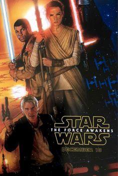 El teaser ilustrado por el gran Drew Struzan para Wars: Episode VII - The Force Awakens.  Se repartió este afiche en la D23 de este año y enloqueció a todos los fans.