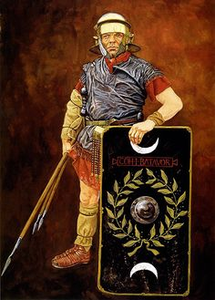 """""""Roman auxiliary on campaign, Northern Europe, 1st Century AD"""", Graham Sumner"""