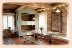 Old Finnish bunk beds - Scandinavian Design, Old Houses, Bunk Beds, Kitchen Decor, Architecture, Interior, Birches, Bus Conversion, Homeland