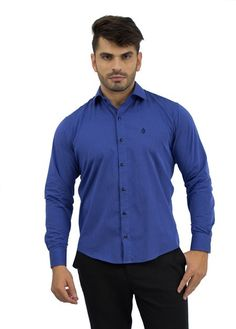 Camisa Social Masculina Azul Celeste