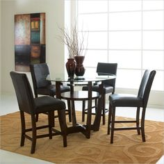 Standard Furniture Apollo Counter Height 5 Piece Dining Set in Merlot - 10816-14-5PKG - Lowest price online on all Standard Furniture Apollo Counter Height 5 Piece Dining Set in Merlot - 10816-14-5PKG
