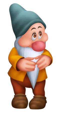 Walt Disney Characters Photo: Bashful in Kingdom Hearts Snow White Movie, Snow White Doll, Kids Cartoon Characters, Walt Disney Characters, Kingdom Hearts Wiki, Dwarf Hat, Snow White Prince, Disney Bathroom, Autograph Book Disney