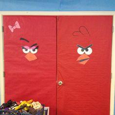 Angry birds themed classroom - angry birds doors