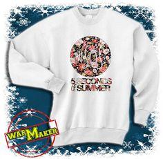 5 seconds of summer floral logo shirt 5 sos shirt by warmmaker