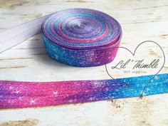 1 yards bright galaxy 5/8 inch fold over elastic by LilThimble