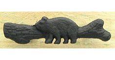 #tosimplyshop Cast Iron Bear With Log Drawer Pull #gifts #homedecor #gardendecor #decor #home #garden #shopping
