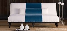 camille settee - Google Search  Perfect for my living room.  love the design, pillow and legs. perfect