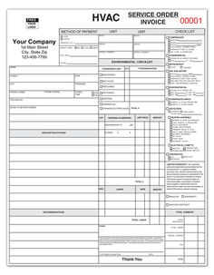 1000+ images about HVAC forms on Pinterest | Hvac air conditioning, Service order and Office ...