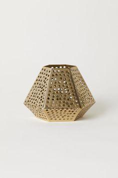 Metal Tea Light Holder | Gold-colored | H&M HOME | H&M US