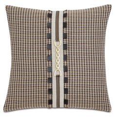 Plaid equestrian throw pillow