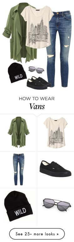 """OMG I want this outfit so bad"" by fashiongirlprox on Polyvore featuring Current/Elliott, Vans, Banana Republic and American Eagle Outfitters"