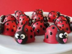 Everybody loves a good ladybug :) PS- they are Oreo balls on the inside, so how perfect is this?