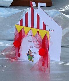 Zirkus Einladung Mit Roten Umschlag 10 Von Forgetmenotparty Auf Etsy
