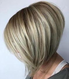 Voluminous Angled Lob For Fine Hair