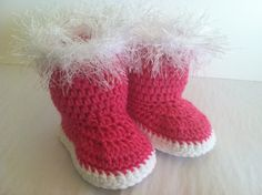Snow Bunny Booties for Babies Crochet by ThePatternParadise, $4.99