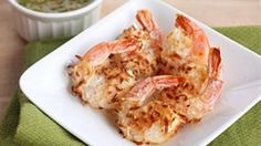 Baked Coconut Shrimp with Pineapple Dipping Sauce.