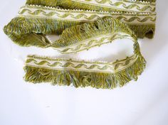 Vintage French tassel trim 4 meters trimming, antique, sewing supply, curtain, cushion project, upholstery, French textiles
