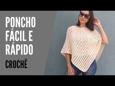 Crochet Scarves, Crochet Shawl, Free Crochet, Knit Crochet, Crochet Videos, Crochet Patterns, Knitting, Tops, Macrame