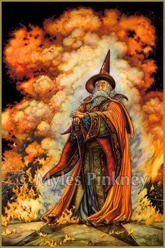 Myles Pinkney Online Gallery - Fire Wizard