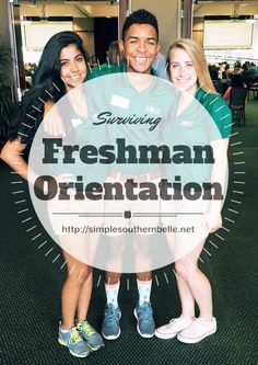 Surviving Freshman Orientation: Tips and tricks to help you get the most out of your freshman orientation College Schedule, College Planning, Freshman Orientation, Orientation Outfit, College Survival Guide, College Life Hacks, College Success, Freshman Year, Freshman Advice