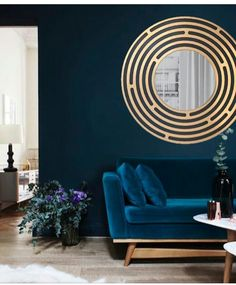 This mirror really pulls you in! Especially against these deep blue shades.