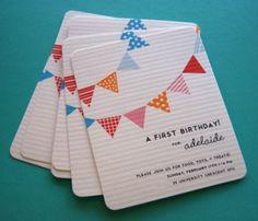 first birthday invites - simple!