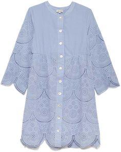Suno Eyelet Shirt Dress