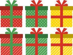 クリスマスプレゼントのギフトボックスイラスト