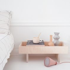 Not sure about the floor cone but love the low nightstand