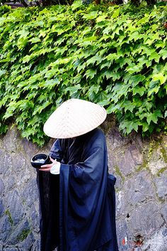 Japanese ascetic monk in Kyoto