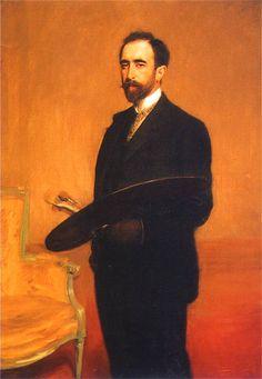 Teodor Axentowicz | Polish-Armenian Academic painter | Self-portrait 1898