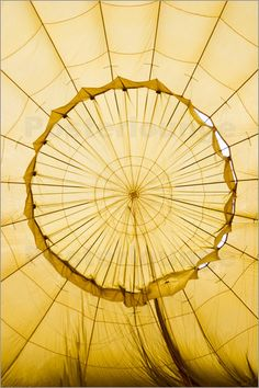 Inside of an inflating hot-air balloon.: Poster & Kunstdruck von Tim Barker