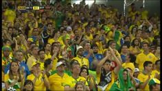 Brazilian fans applaud Germany's 7th goal