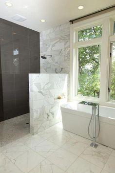 Tile Walk In Shower, Walk In Shower Designs, Glass Shower Doors, Shower Tub, Bathroom Showers, Dream Shower, Glass Doors, Shower Stalls, Frameless Shower