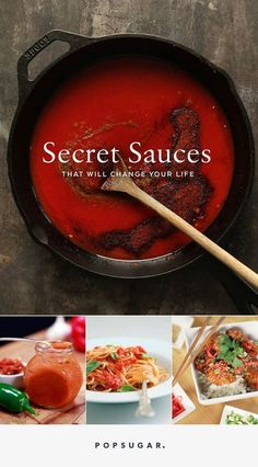 10 Secret Sauces That Will Change Your Life is part of Best sauce recipe - Sauce simply makes foods more succulent Though it's tempting to just crank open a can of tomato or butterscotch sauce, nothing beats homemade These 10 Pesto, Best Sauce Recipe, Secret Sauce Recipe, Hot Sauce Recipes, Butterscotch Sauce, Salsa Picante, Marinade Sauce, Cooking Recipes, Healthy Recipes