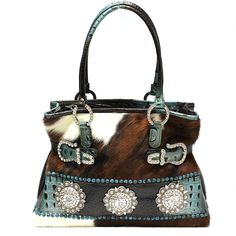 058fe02435 Raviani Western Leather Handbag Purse Swarvoski Turquoise Croco Made in  USA. Bling
