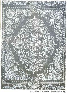 Amazing Filet Crochet Blanket