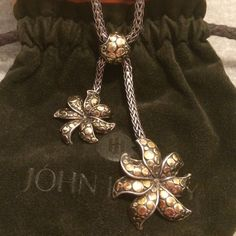John Hardy 925 Silver & 18K Gold Necklace John Hardy AYU Dot Collection Necklace in Sterling Silver & 18K Gold. Very Rare Piece.                                     NO TRADING NO HOLDS, PLEASE DON'T ASK. LOWBALL OFFERS WILL BE IGNORED.  John Hardy Jewelry Necklaces