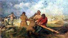 Ilya Repin, Storm on the Volga, 1870-91.