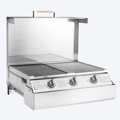 Australias only chef-grade, Stainless Steel, fold down BBQ. This fold up BBQ is the only one of its kind. The king of the fold away BBQ is Space Grill. Garden Design, Modern Design, Bbq, House Ideas, Space, Barbecue, Floor Space, Barbacoa, Contemporary Design