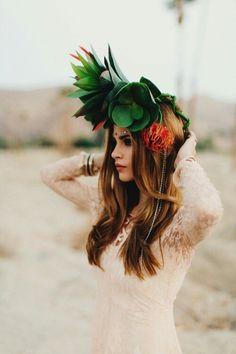 Bridget Satterlee #boho #lace #style #fashion #headpiece
