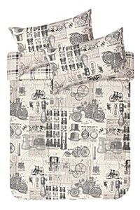 VINTAGE PRINTED DUVET COVER SET