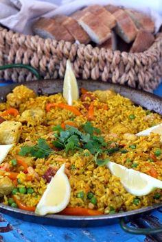Paella, Food And Drink, Menu, Rice, Cooking Recipes, Ethnic Recipes, Menu Board Design, Cooker Recipes