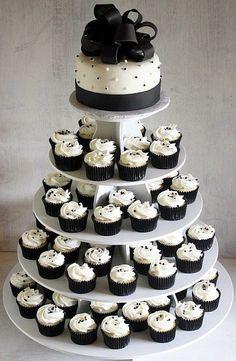 Black and White Cupcake of Inexpensive Wedding | Wedding Cake ...