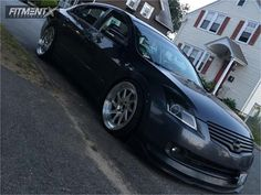 This 2008 Nissan Altima FWD is running Zedd Slt 12 wheels Achilles Atr Sport 2 tires with Truhart Coilovers suspension. 2007 Nissan Altima, Sport 2, Jdm Cars, Fast Cars, Project Ideas, Gallery, Vehicles, Baby, Off Road Cars