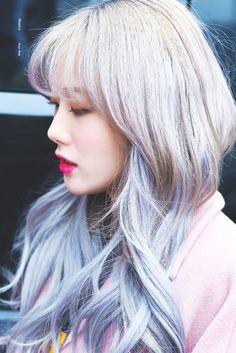 愼 ☼ ριητεrεsτ policies respected.( *`ω´) If you don't like what you see❤, please be kind and just move along. Yuehua Entertainment, Starship Entertainment, K Beauty, Asian Beauty, Wjsn Luda, Cosmic Girls, Grey Hair, Korean Singer, Hair Inspo