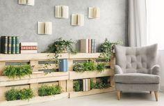 Cantinho de leitura, verde e pallets - Decoração Relaxante para casa