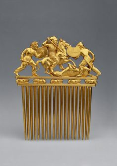^Scythian golden comb (5th century BC)