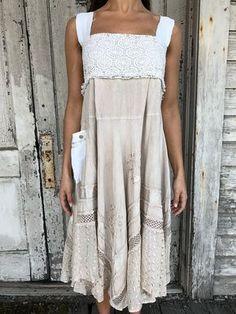 Emma dress-small medium-artsy-Eco Clothing-Upcycled